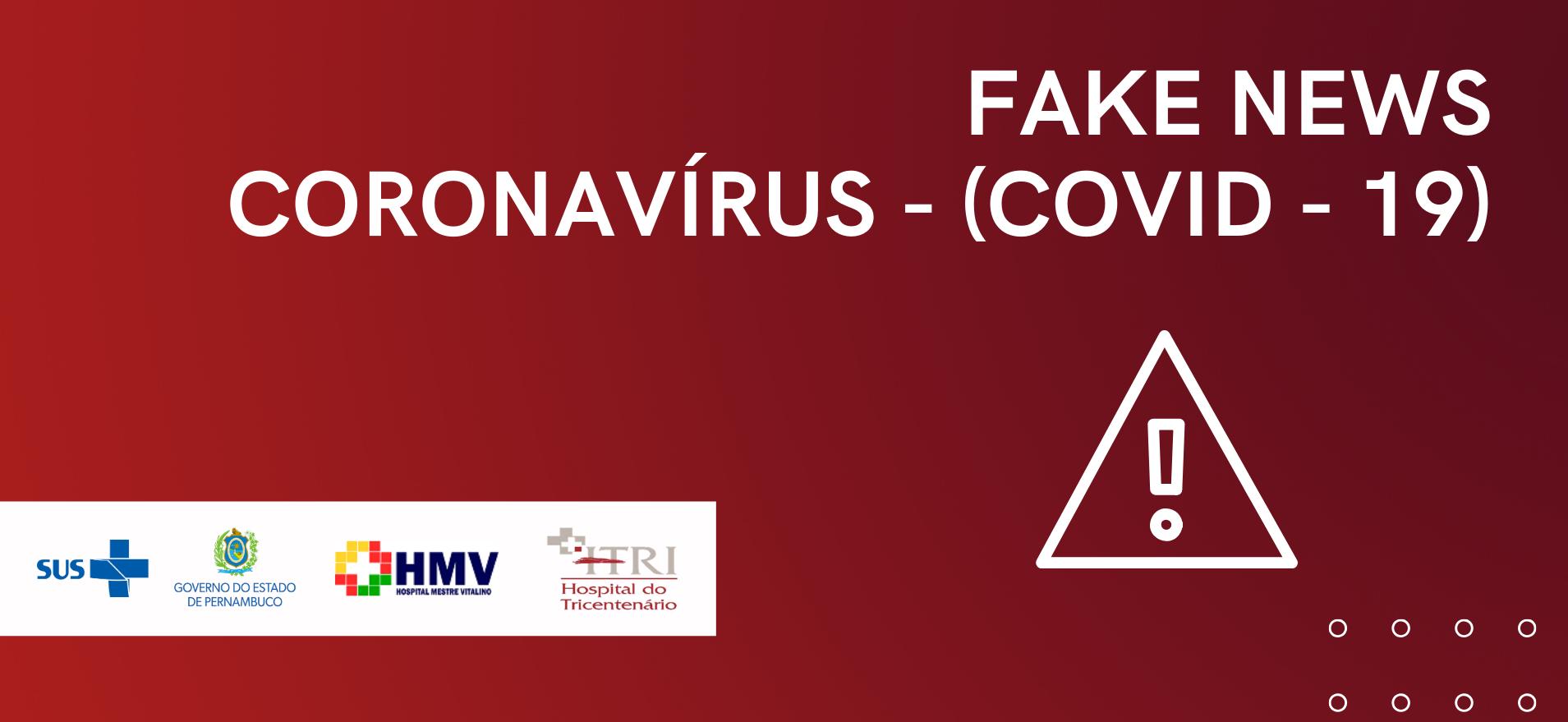 HMV alerta a população sobre FAKE NEWS